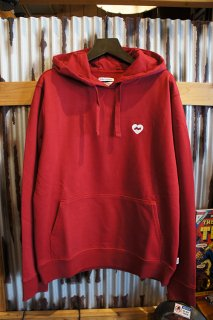 BANKS JOURNAL HEART PULLOVER FLEECE (RUBY)
