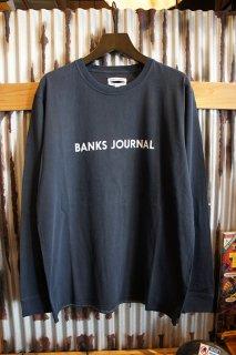 BANKS JOURNAL LABEL L/S TEE SHIRT (DIRTY DENIM)