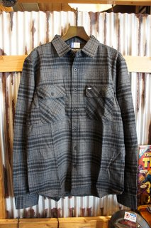 BRIXTON × CHEVROLET BOWERY CHEVY L/S FLANNEL (BEL AIR BLACK)