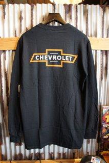 BRIXTON × CHEVROLET BOWTIE L/S POCKET TEE (BEL AIR BLACK)