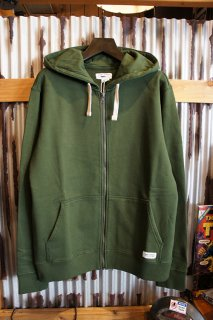 BANKS JOURNAL PRIMARY FLEECE ZIP UP HOODIE (GREEN MARINE)