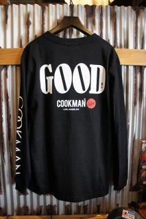 Cookman Long sleeve T-shirts (「GOOD」) Black