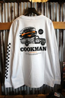 Cookman Long sleeve T-shirts (「Burger truck」) White
