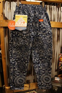 Cookman Chef Pants (「Paisley」 Navy)