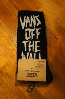 VANS SCRATCHED VANS CREW SOCKS (BLACK)