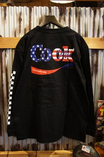 Cookman Long sleeve T-shirts (「Cook U.S.A.」) Black
