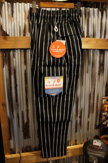 Cookman Chef Cargo Pants (「Stripe」 Black)