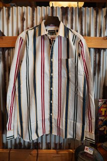 Barney Cools Cabin Long-sleeve Shirts (White vert stripe)