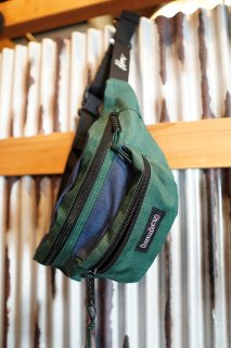 BUMBAG LOUIE LOPEZ Hybrid Basic Hip Pack (Forest Green & Navy)