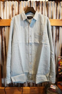 ROLLA'S Men At Work Hemp Denim Shirt (Bleach)