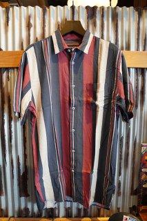 Barney Cools Holiday short-sleeve shirt (Red vert stripe)