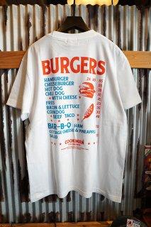 Cookman T-shirts 「Burgers menu」 (WHITE)