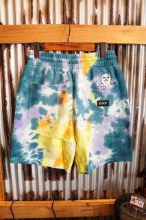 RIPNDIP Peek A Nermal Sweat Shorts (Multi Tie Dye)