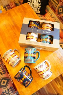 PENDLETON Ceramic Mug Set (4pcs)【店頭受け取り受注のみ】