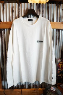 "CONVERSE SKATEBOARDING ""Wear & Goods Collection"" LOGO L/S T-SHIRT (WHITE)"