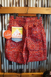 Cookman Chef Short Pants (「Paisley」 Red)