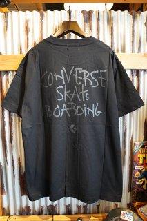 "CONVERSE SKATEBOARDING ""Wear & Goods Collection"" LOGO S/S T-SHIRT (BLACK)"