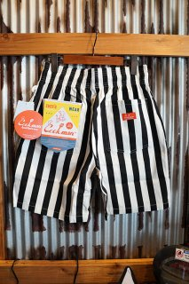 Cookman Chef Short Pants (「Wide Stripe」 Black)