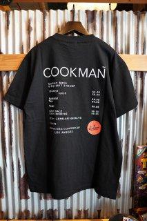 Cookman T-shirts 「Casher」 (BLACK)