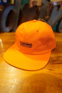"CONVERSE SKATEBOARDING ""Wear & Goods Collection"" EMBROIDERY LOGO 6PANEL CAP (ORANGE)"