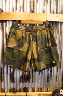 DEUS EX MACHINA GLIDE GEO SWIMSHORT (GREEN CAMO)