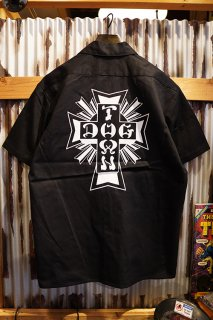 DOGTOWN D.T.S S/S WORK SHIRT (BLACK)