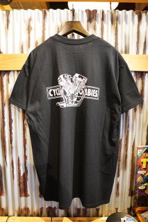 CYCLE ZOMBIES BIG TWIN Premium Pocket S/S T-Shirt (Black)