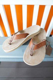 The Sandalman BEACH WALK LEATHER SANDAL (TAN)