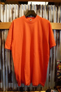 LOS ANGELES APPAREL 6.5OZ SHORT SLEEVE GARMENT DYE CREW NECK T-SHIRT (BRIGHT ORANGE)