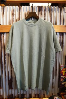 LOS ANGELES APPAREL 6.5OZ SHORT SLEEVE GARMENT DYE CREW NECK T-SHIRT (ATLANTIC GREEN)