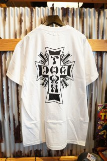 DOGTOWN Cross Logo T-shirt (White/Black)