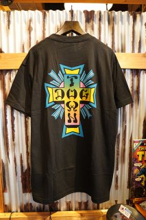 DOGTOWN Cross Logo Neon T-shirt (Black/Neon Fade)