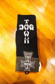 DOGTOWN DT Crew Socks -One Pair- (BLACK)