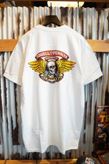 POWELL PERALTA WINGED RIPPER S/S T-SHIRT (WHITE)