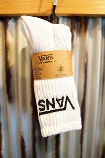 VANS CLASSIC CREW SOCKS (3PACK) (WHITE)