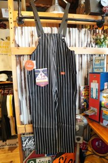 Cookman Fisherman's Bib Overall (「Stripe」Black )