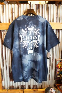 DOGTOWN Cross Logo Tie-dye S/S T-shirt (Navy/White)