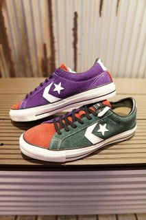 "CONVERSE SKATEBOARDING ""+ SERIES"" PRORIDE SK OX + (GREEN/RED/PURPLE)"