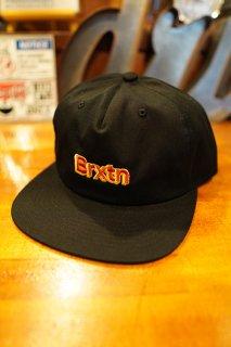 BRIXTON Gate VI MP Snapback Cap (Black)