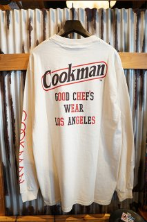 Cookman Long sleeve T-shirts 「Tape Logo」 (OFF WHITE)