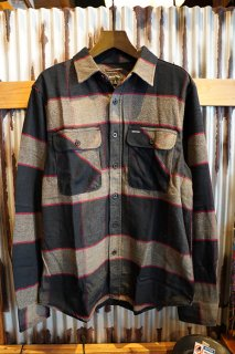 BRIXTON BOWERY L/S FLANNEL (HEATHER/CHARCOAL)
