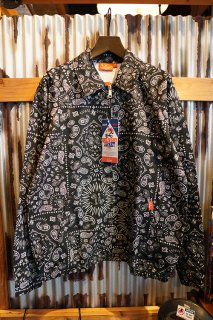 Cookman Delivery Jacket 「Paisley」Black