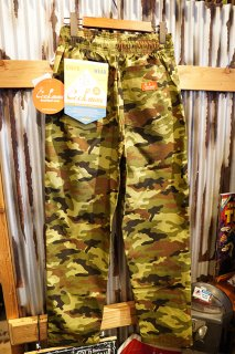 Cookman Chef Pants (「Ripstop」 Woodland Camo Green)