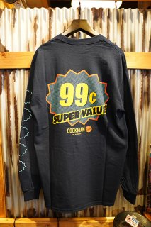 Cookman Long sleeve T-shirts 「Super Value」 (NAVY)