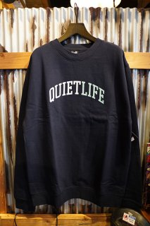 THE QUIET LIFE Quiet Arch Crew Neck Sweat (NAVY)