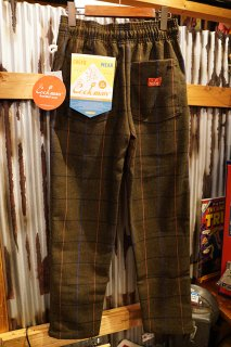 Cookman Chef Pants (「Wool Mix Check」Olive Green)
