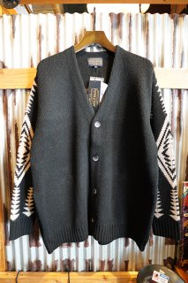 PENDLETON BUTTON UP CARDIGAN (BLACK)