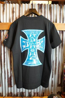 JAY ADAMS BLUE CROSS LOGO TEE (BLACK)