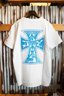 JAY ADAMS BLUE CROSS LOGO TEE (WHITE)