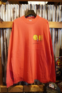 MISFIT SHAPES SUN SHOWERS LS TEE (BRIGHT RED)